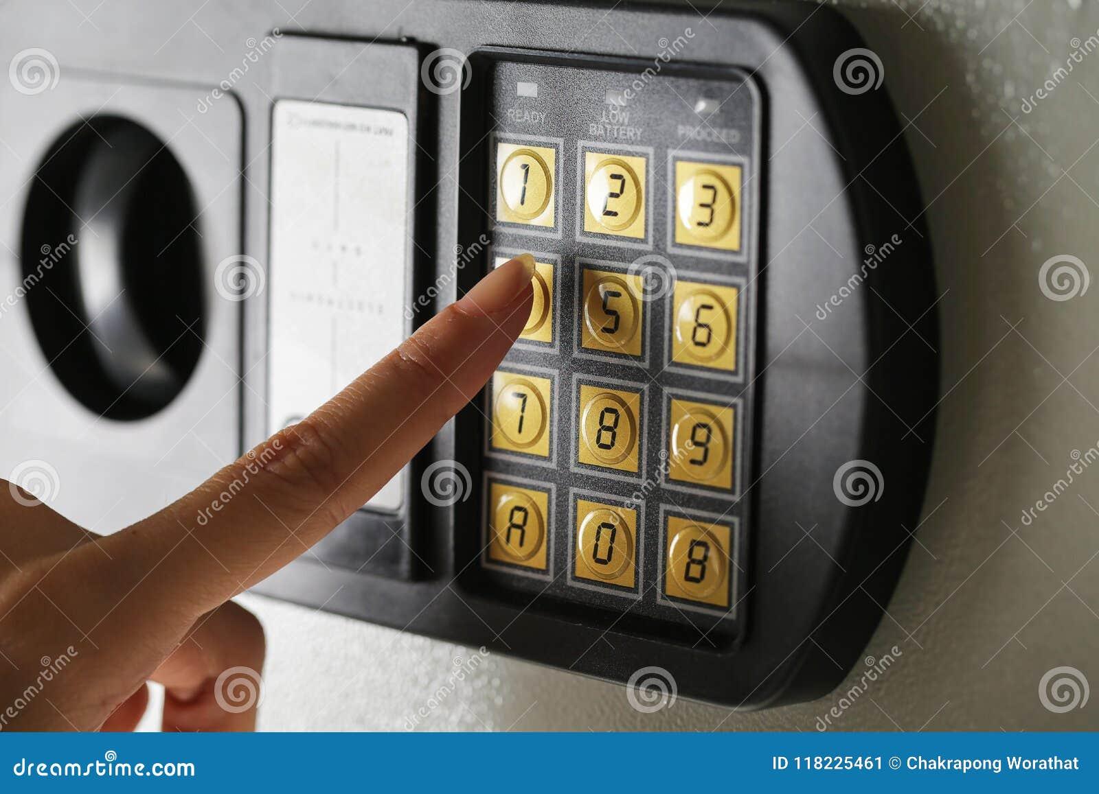 Banco seguro de la caja de seguridad de la protección del número del cojín de la contraseña del código de cerradura