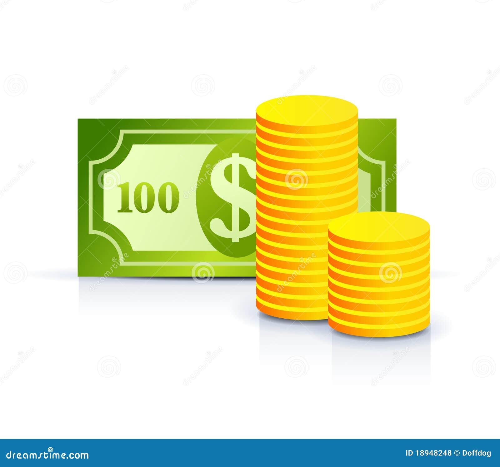 Banconota e monete del dollaro