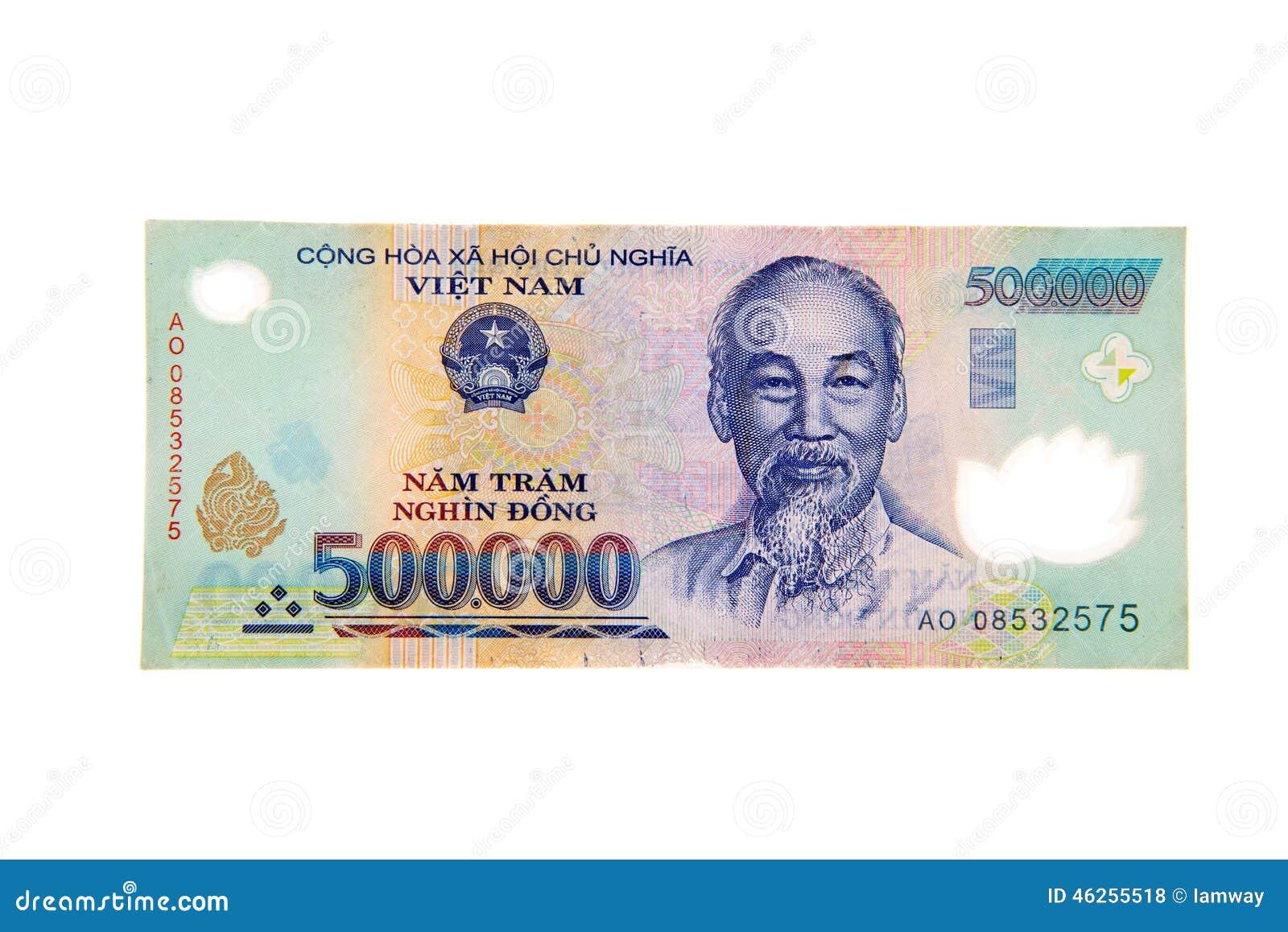Banconota Vietnamita Di Dong Di Valuta 500.000 Fotografia Stock - Immagine: 46255518