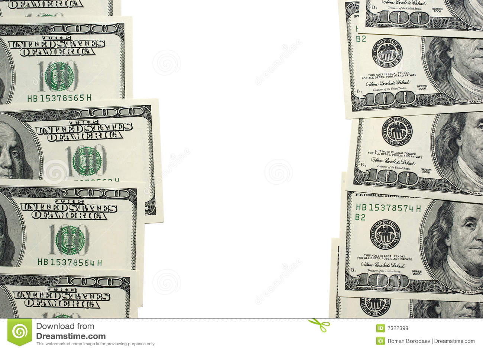 Banconote del dollaro con spazio.