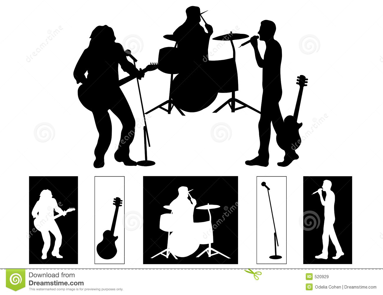 Band Royalty Free Stock Images - Image: 520929
