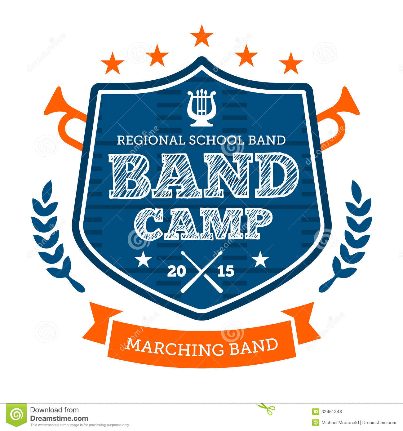Band Camp Emblem Stock Vector Illustration Of Corp Activity 32451348