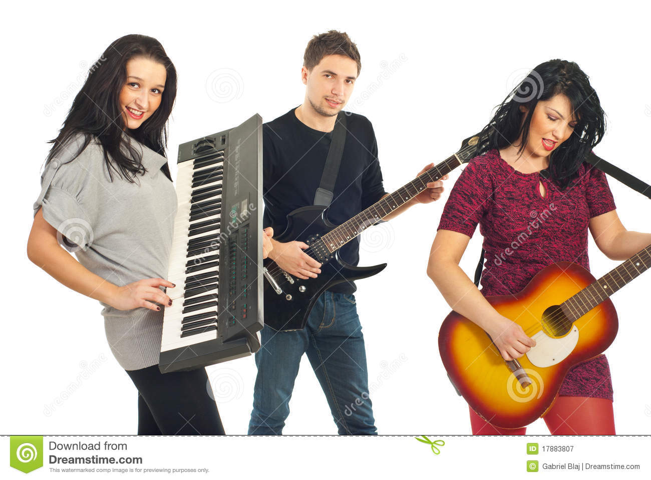 Band playing instruments