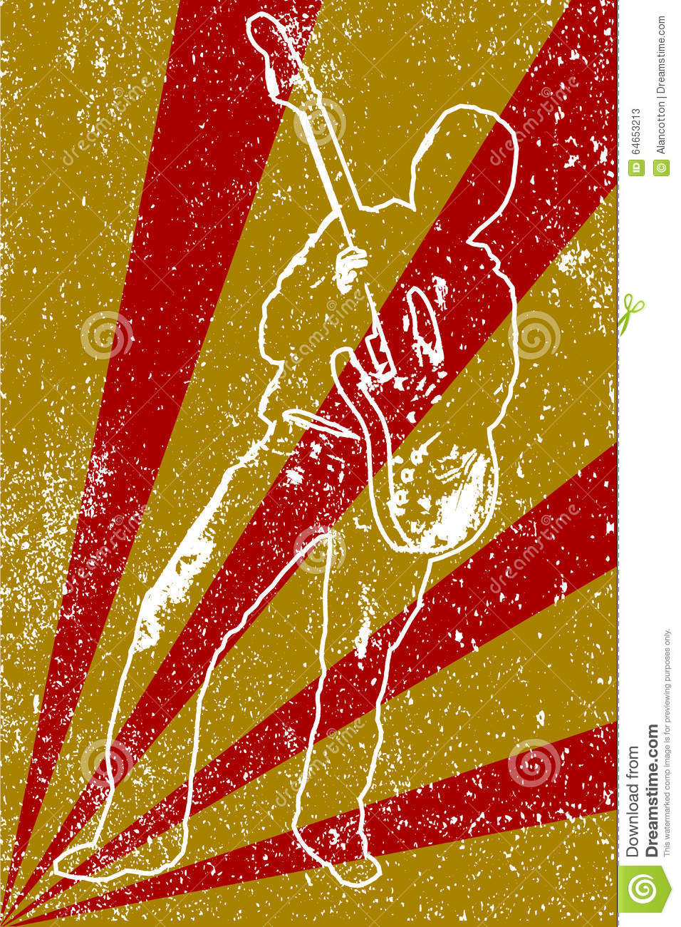 Band Poster Background Stock Vector - Image: 64653213