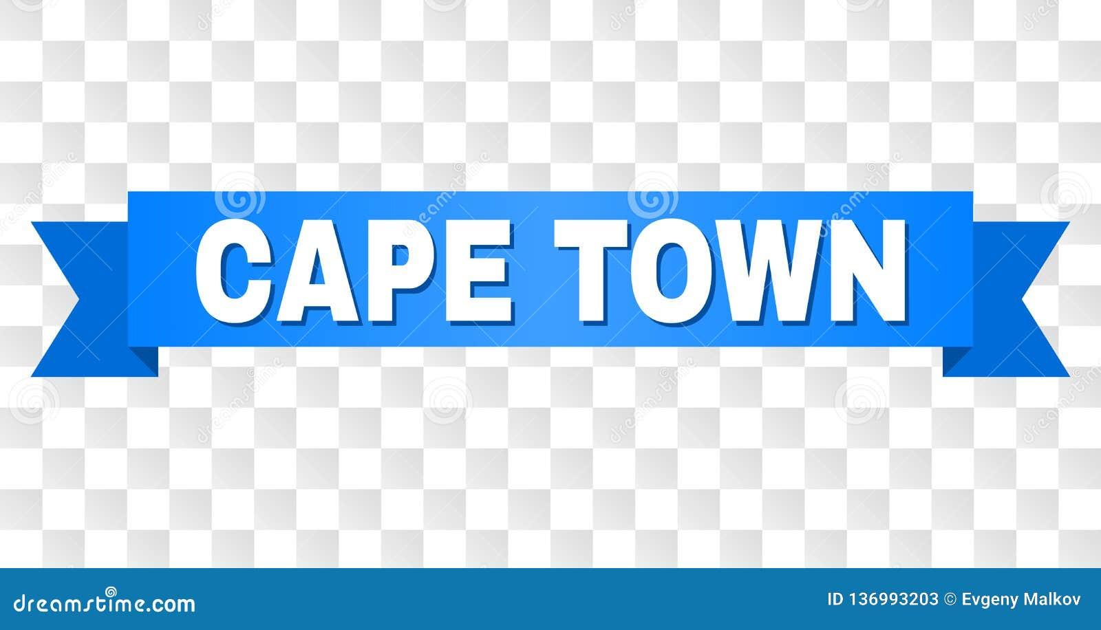 Banda blu con il testo di CAPE TOWN