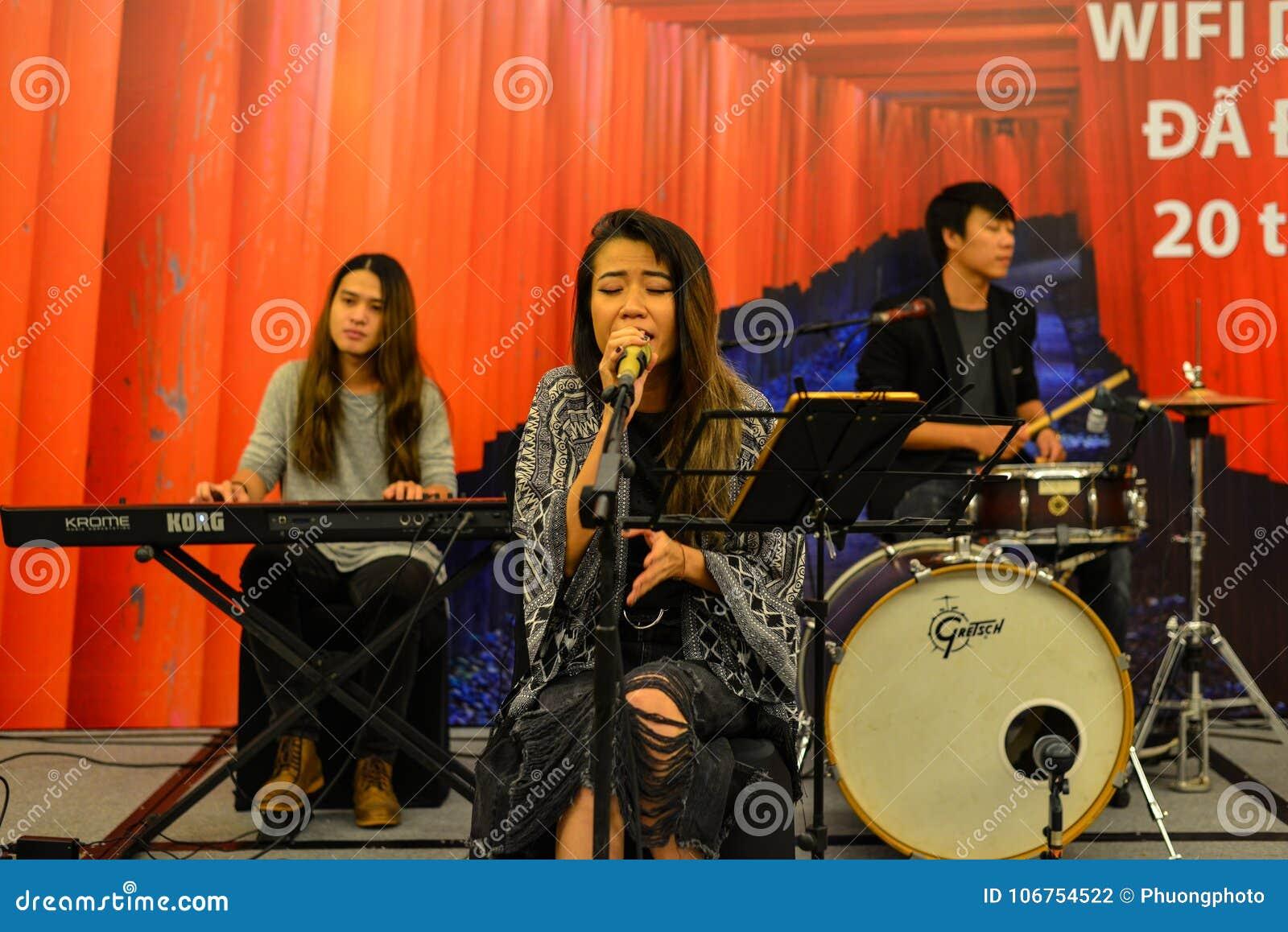Banda di musica in scena