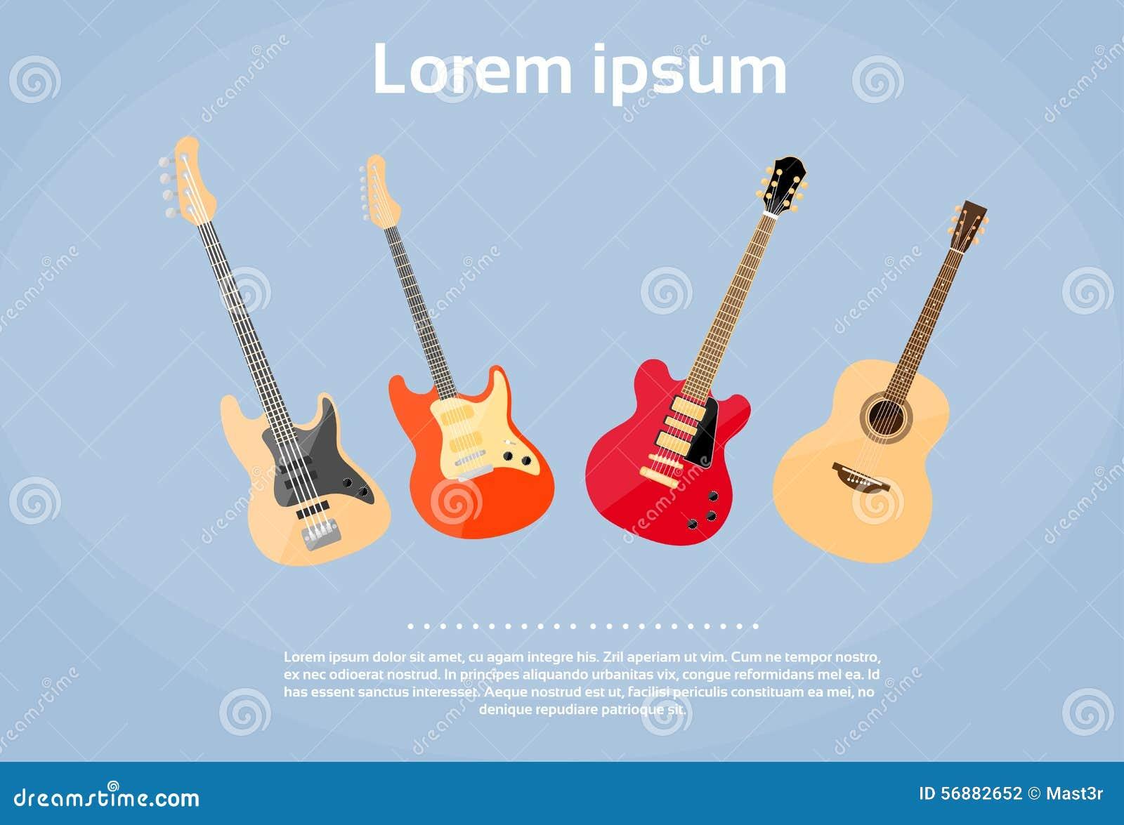 Banda rock stabilita degli strumenti musicali della chitarra