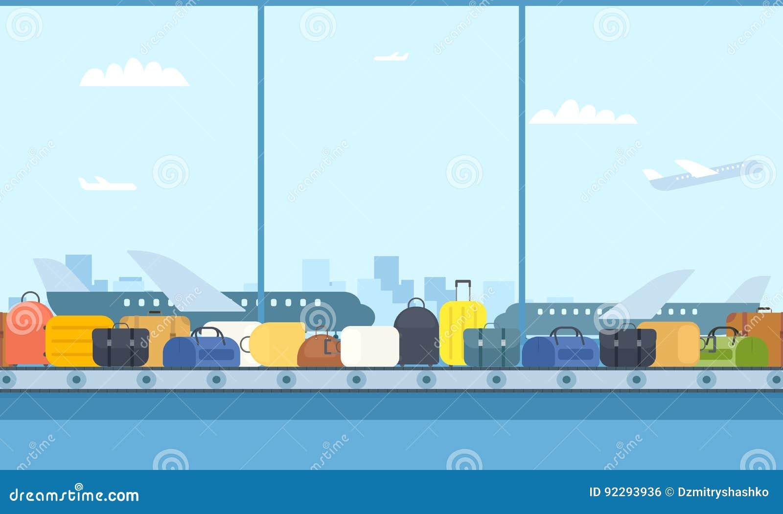 Banda transportadora en aeropuerto