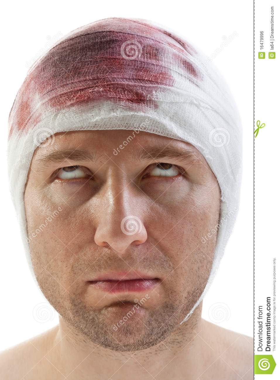 Bandage On Blood Wound Head Royalty Free Stock Image ...
