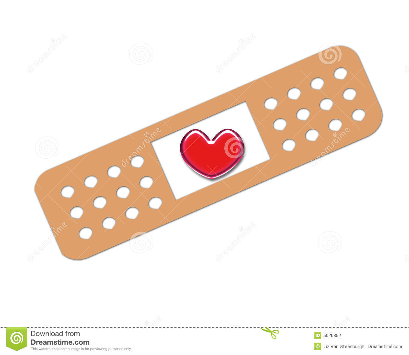 Bandage Heart Stock Photography - Image: 5020852