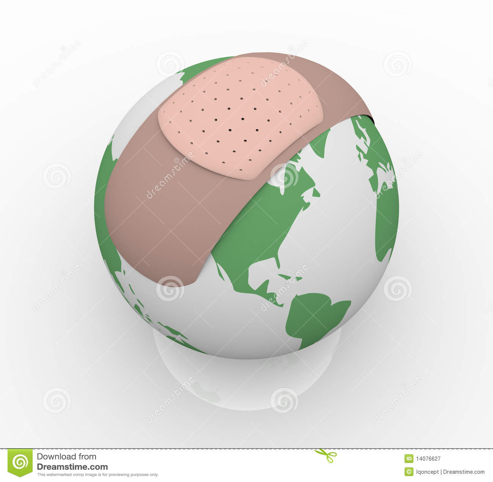Bandage sur terre de planète