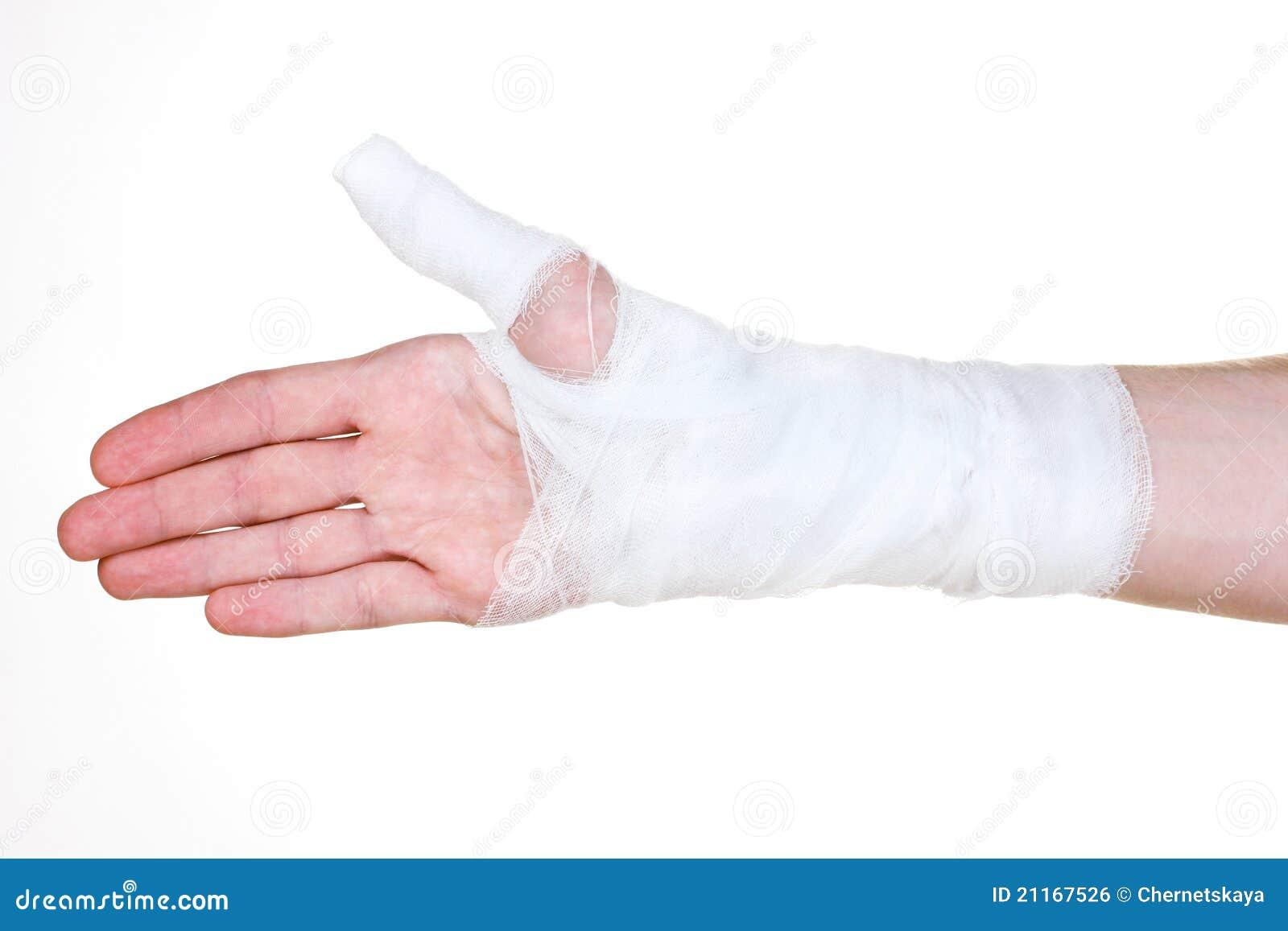 Bandaged Hand Royalty Free Stock Image - Image: 21167526
