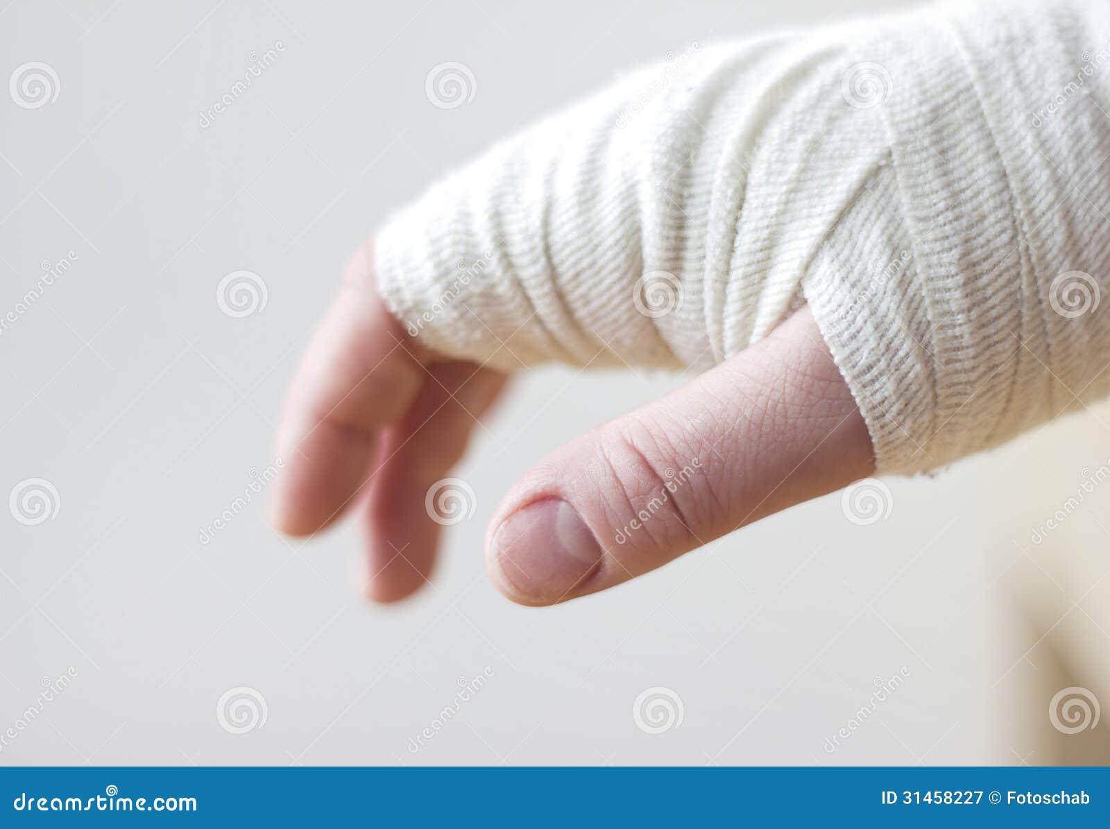 Bandaged Hand Royalty Free Stock Photography - Image: 31458227