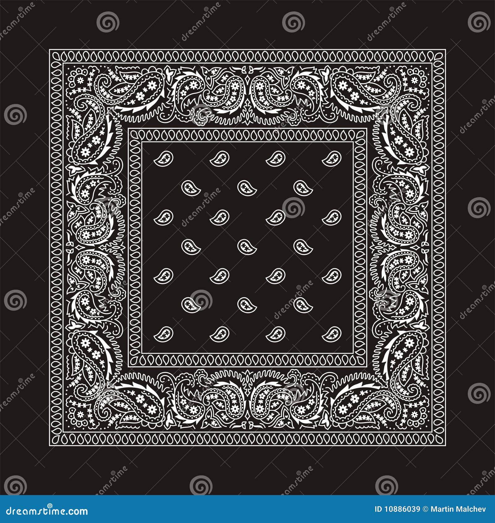 76276d8a Bandana-2 (negro) ilustración del vector. Ilustración de kerchief ...
