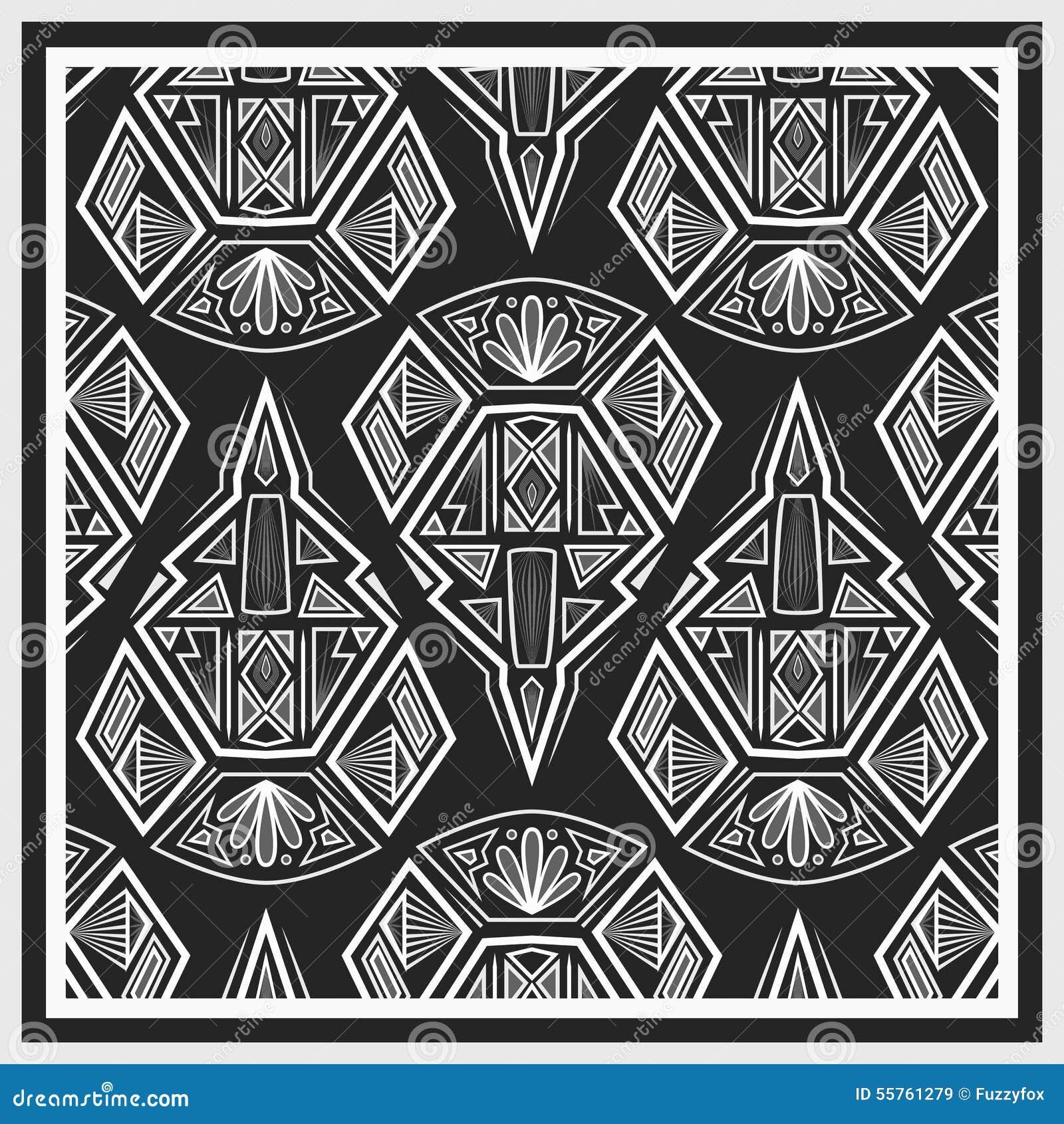 Bandana Design With Geometrical Elements Stock Illustration ...