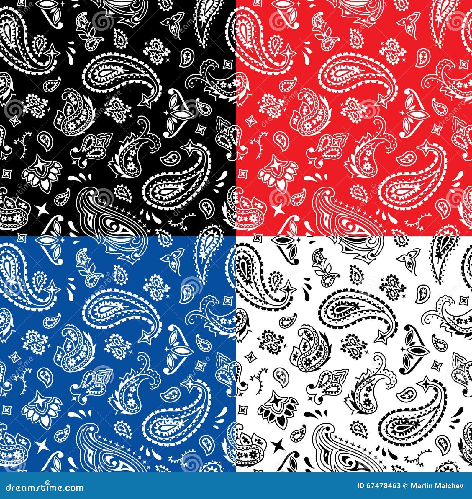 Bandana Seamless Pattern Cartoon Vector Cartoondealer