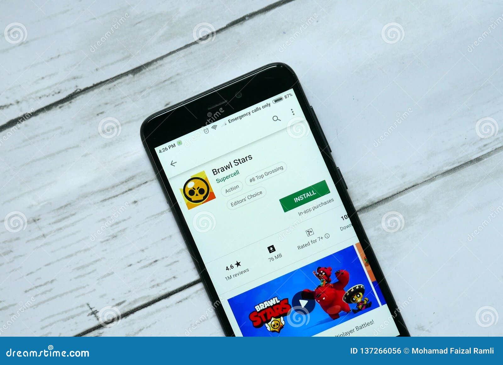 BANDAR SERI BEGAWAN, BRUNEI - 21. JANUAR 2019: Lärm-Sternanwendung auf einem androiden Google Play Store