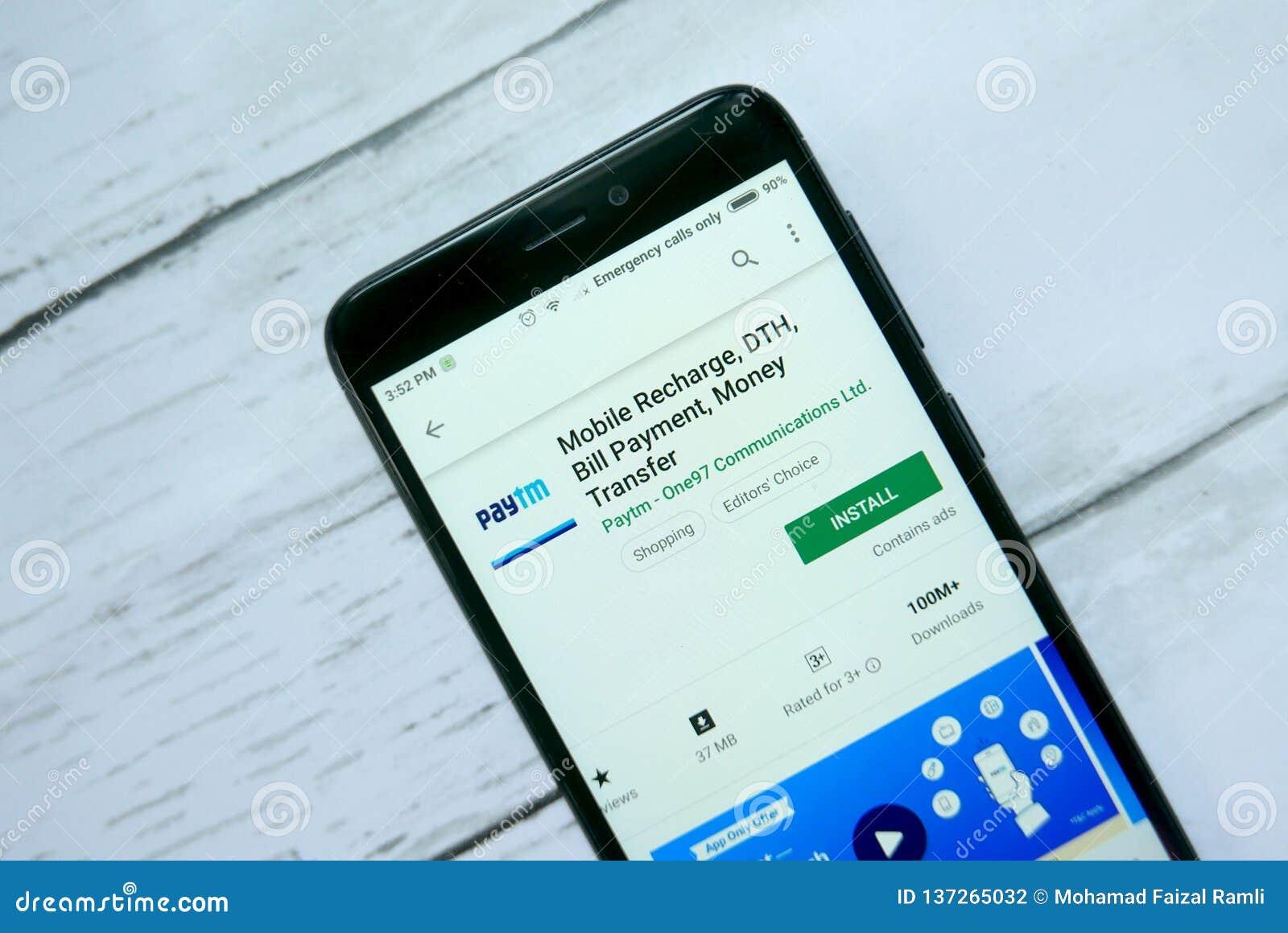 BANDAR SERI BEGAWAN,BRUNEI - JANUARY 21ST,2019 : Paytm Mobile