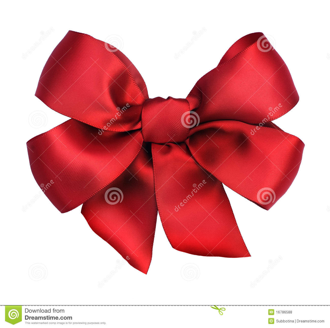 Bande de cadeau de satin de Bow.Red