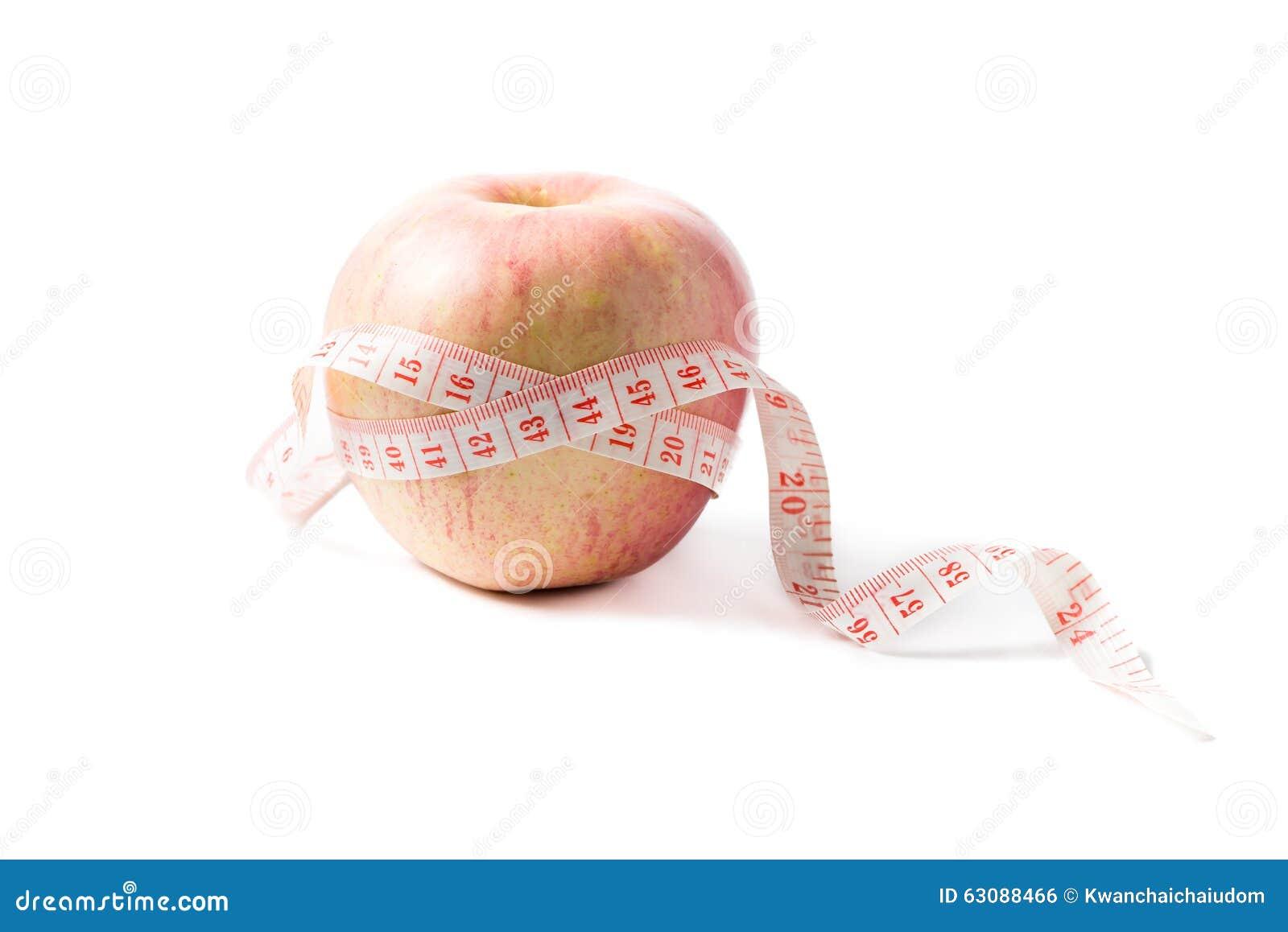 Download Bande De Mesure Enroulée Autour De La Pomme Comme Symbole De Régime Photo stock - Image du bande, centimètre: 63088466