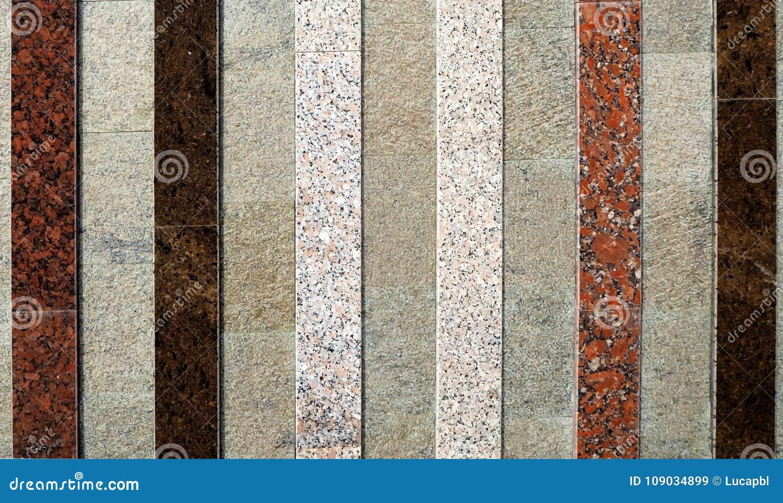 Tipi Di Marmo Grigio bande dei tipi e dei colori differenti di marmi sul fondo
