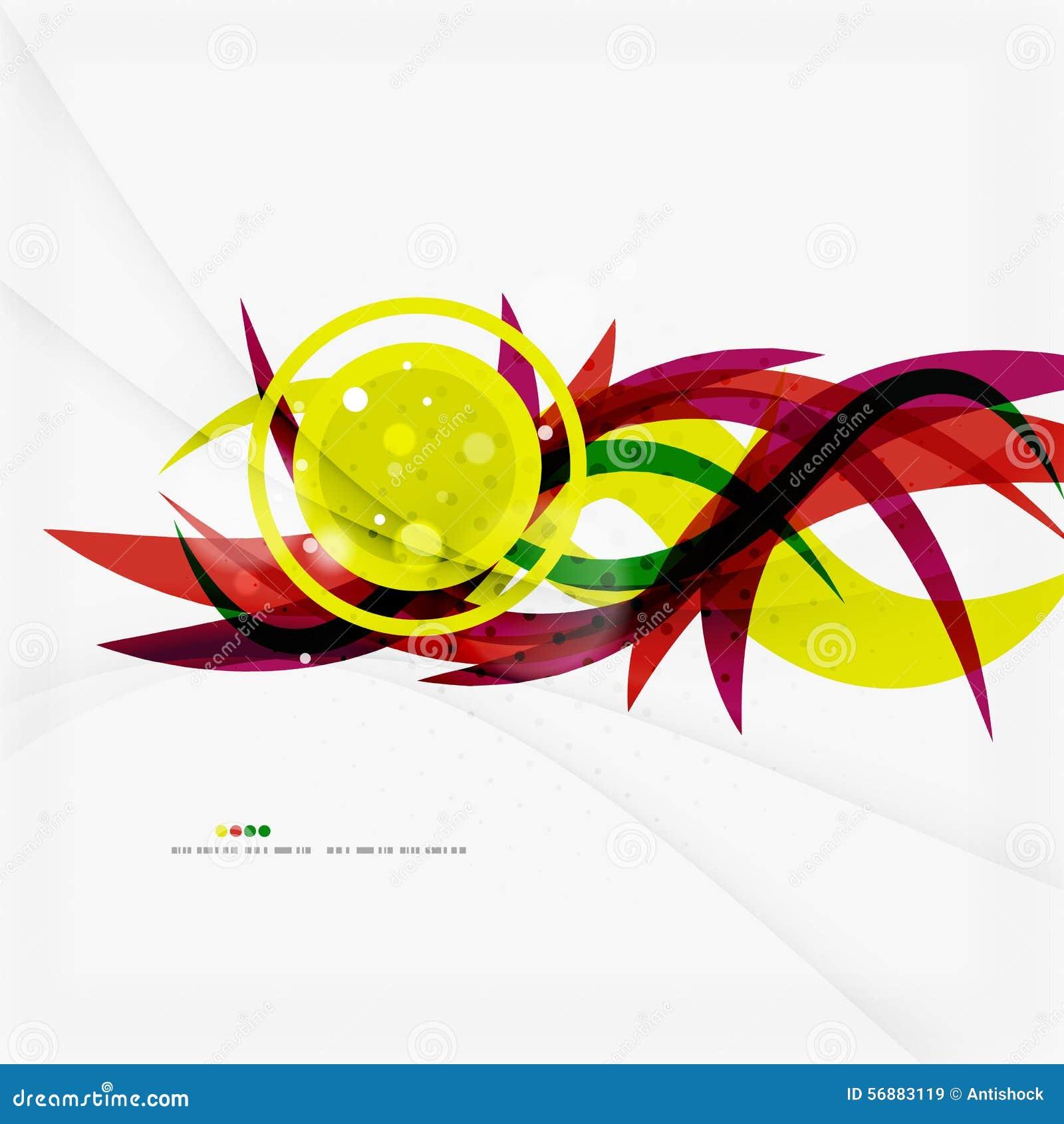 Bande dell onda di colore dell arcobaleno