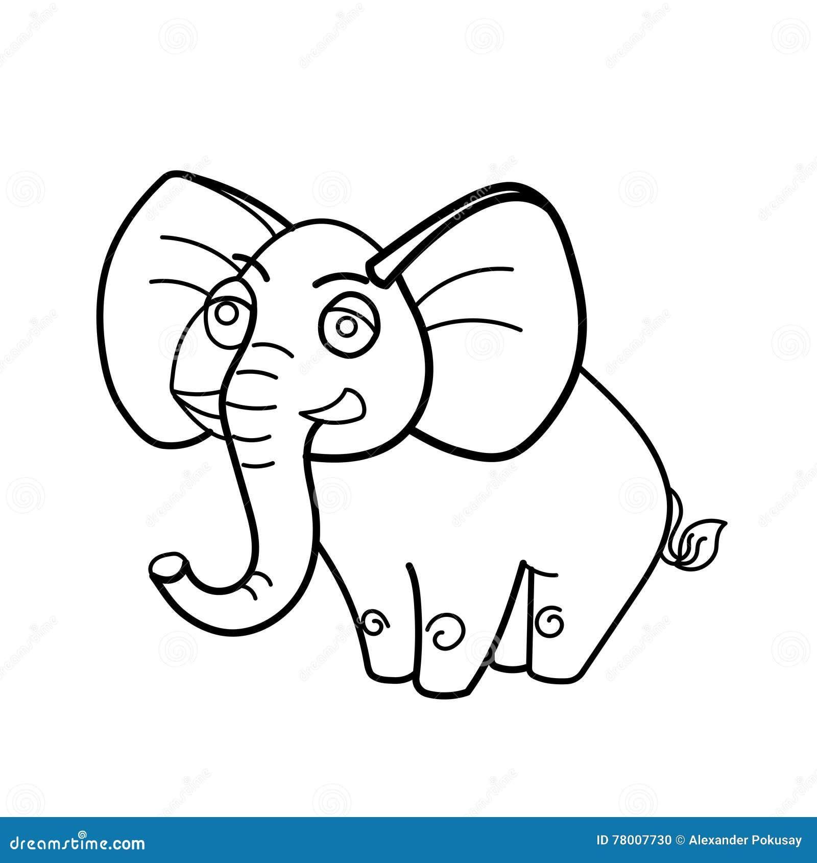 Bande Dessinee Animale Africaine D Elephant De Livre De Coloriage