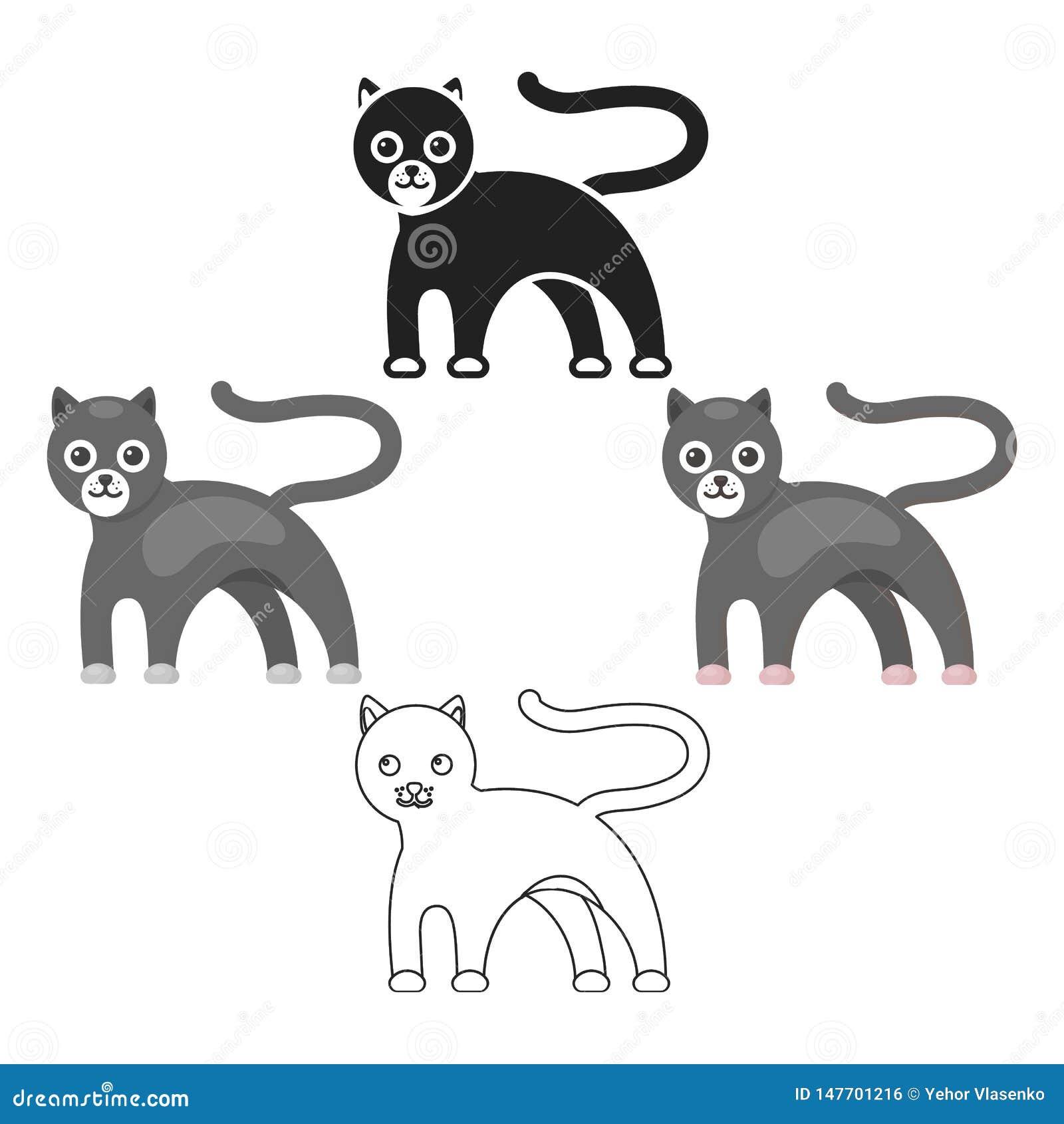 Bande Dessinee D Icone De Panthere Noire Icone Animale De Legere