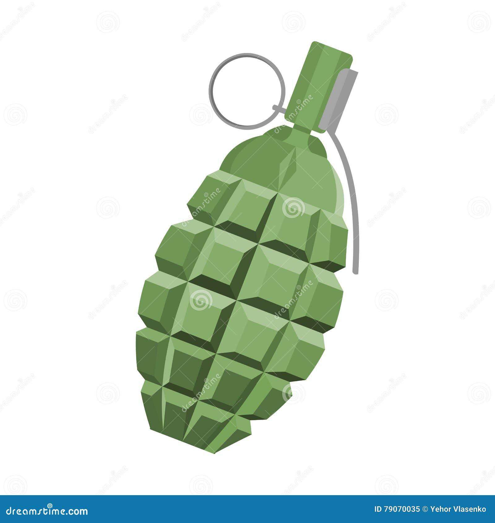 Bande dessinée d icône de grenade Icône simple d arme des grandes munitions, bras réglés