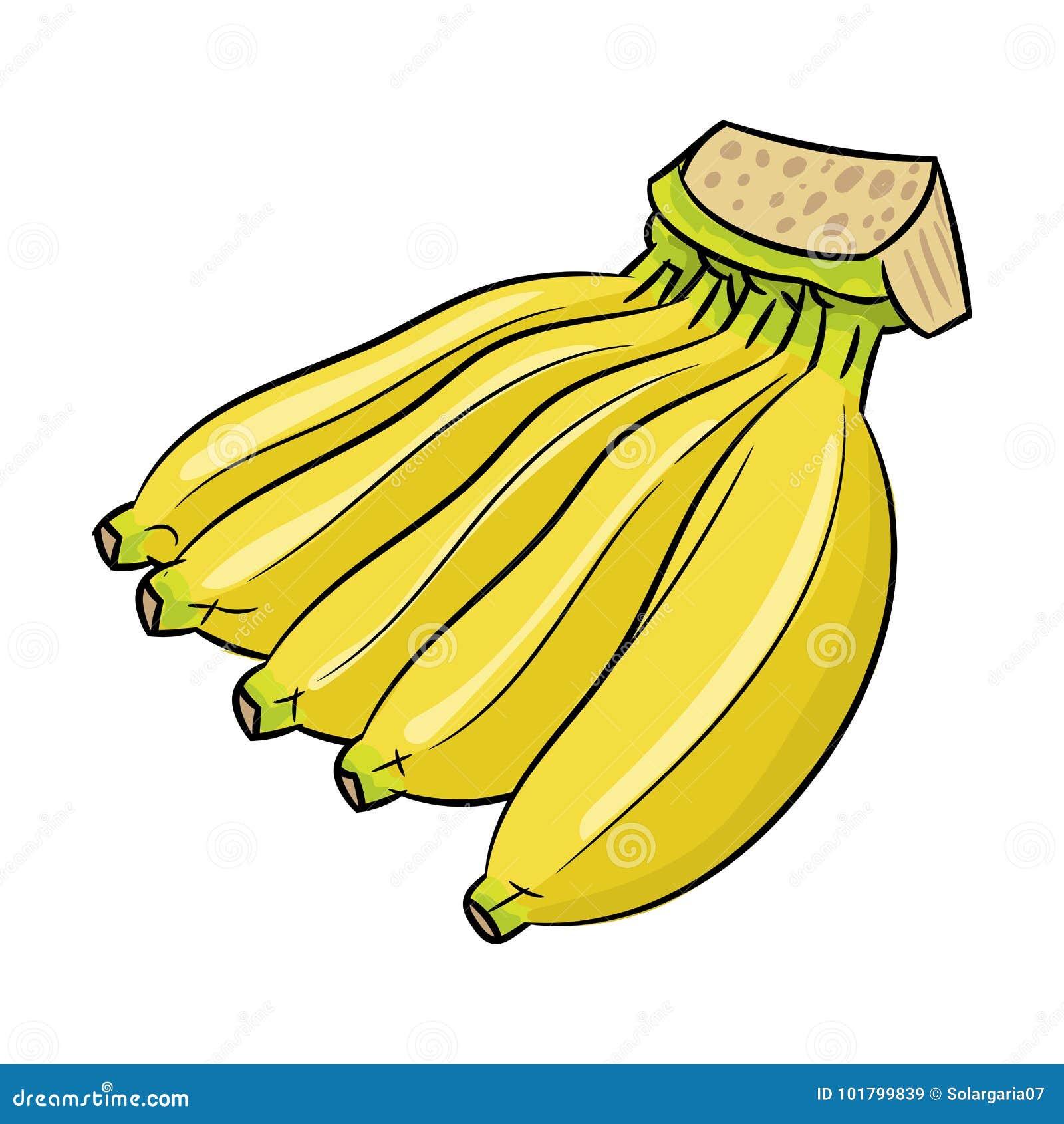 Bande dessinée d isolement de banane - illustration de vecteur