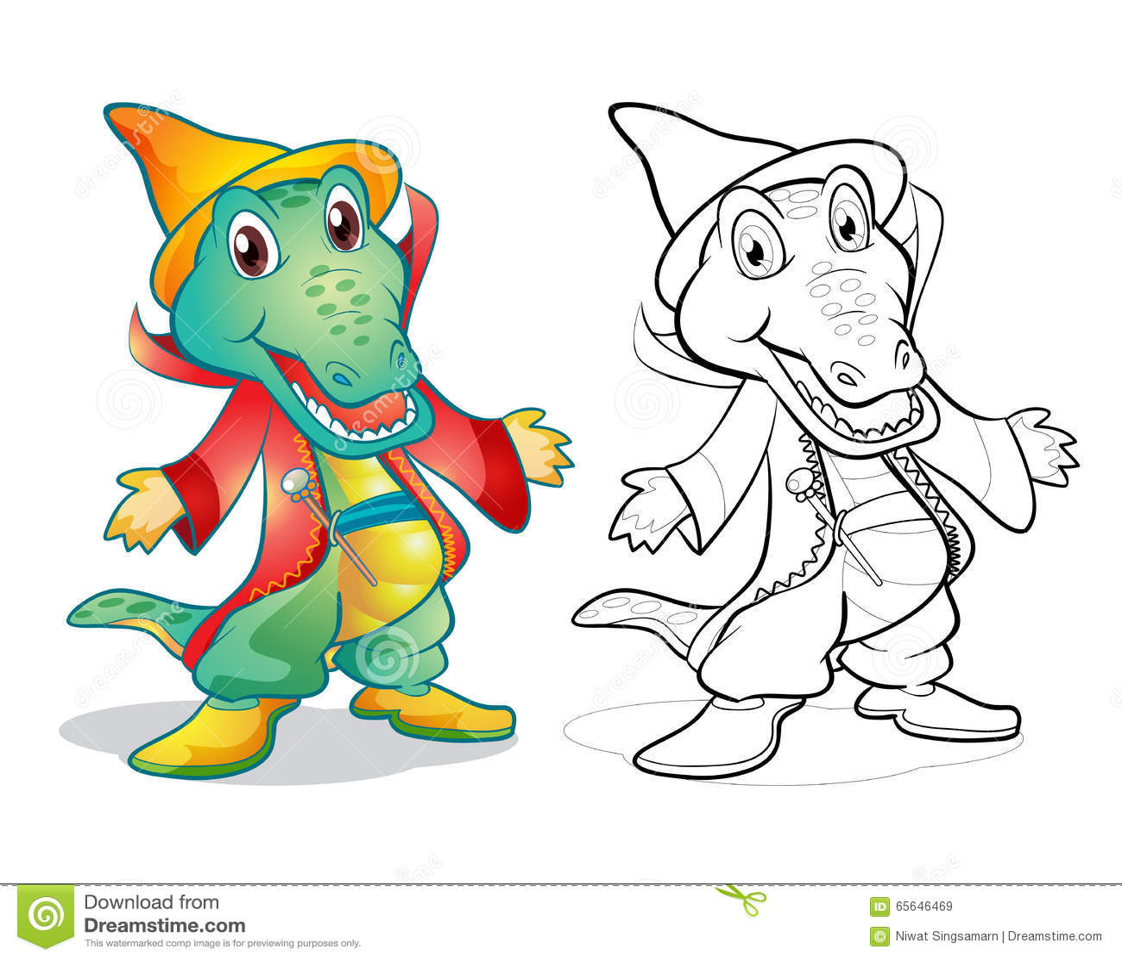 Bande dessinée de crocodile de mascotte d imagination