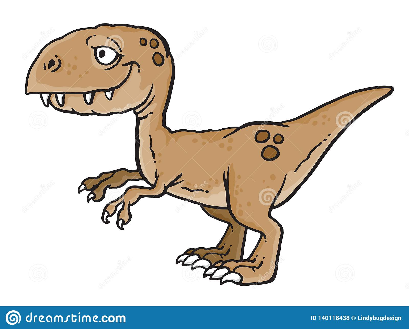 Bande Dessinée De Dinosaure T Rex Illustration Stock