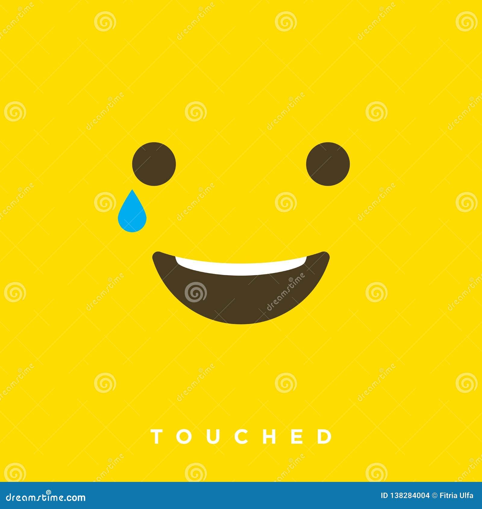 Bande dessinée de haute qualité de vecteur avec les émoticônes touchées de visage avec le style plat de conception, réactions soc