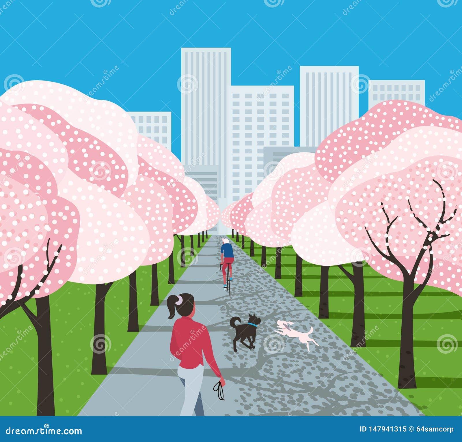 Bande dessinée de loisir de parc de ville