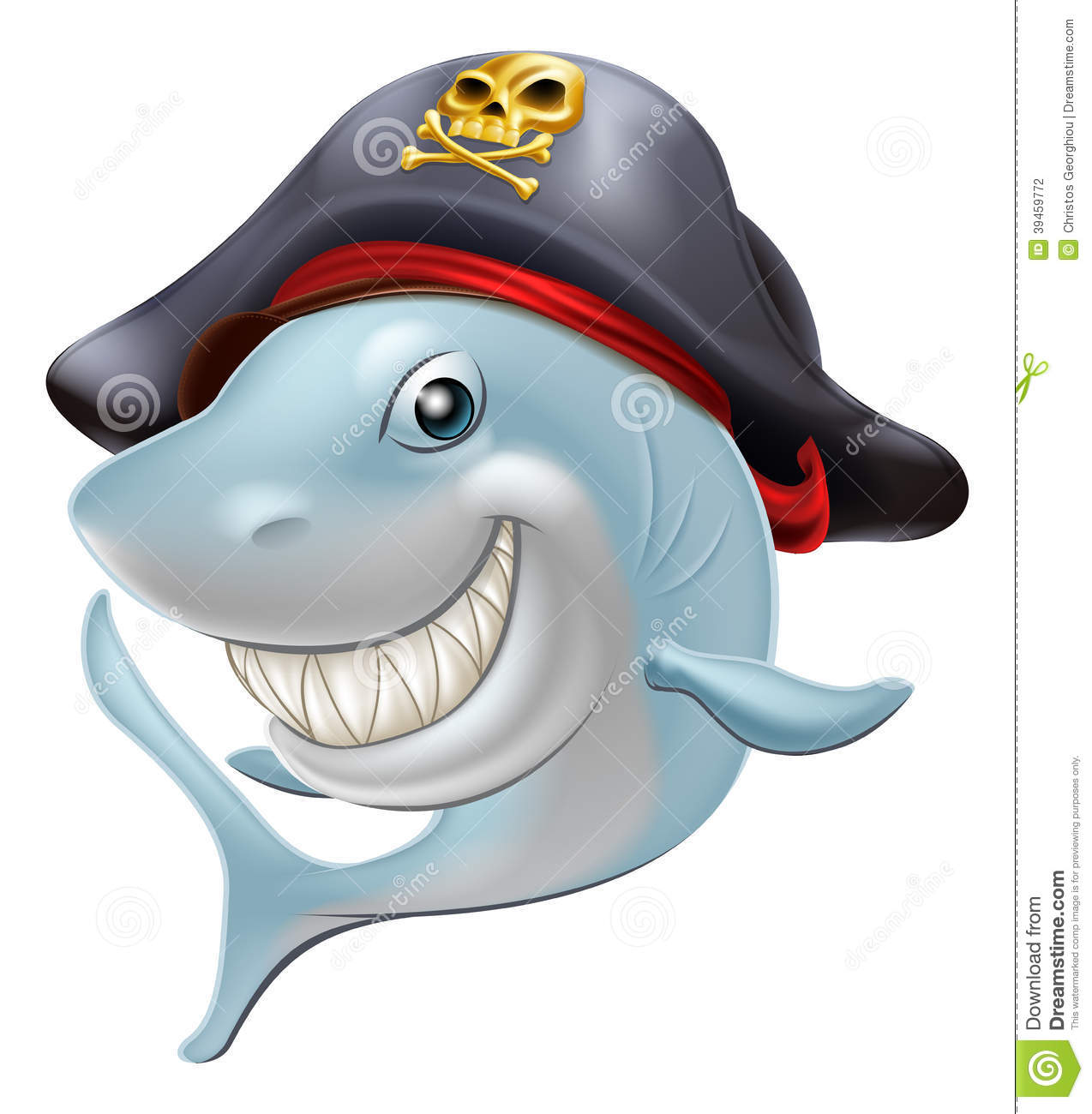 Bande dessinée de requin de pirate