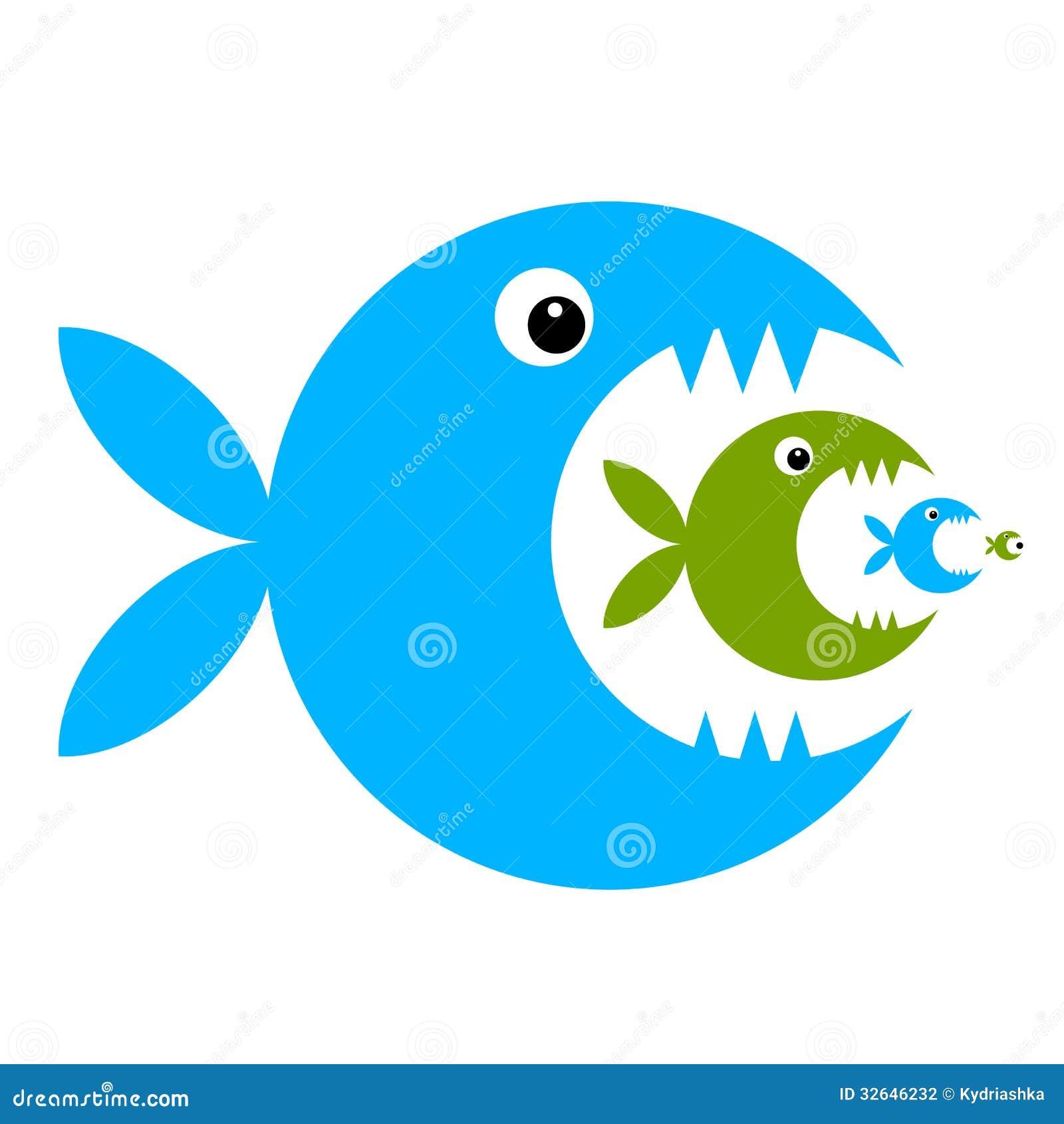 Bande dessinée drôle de poissons pour votre conception