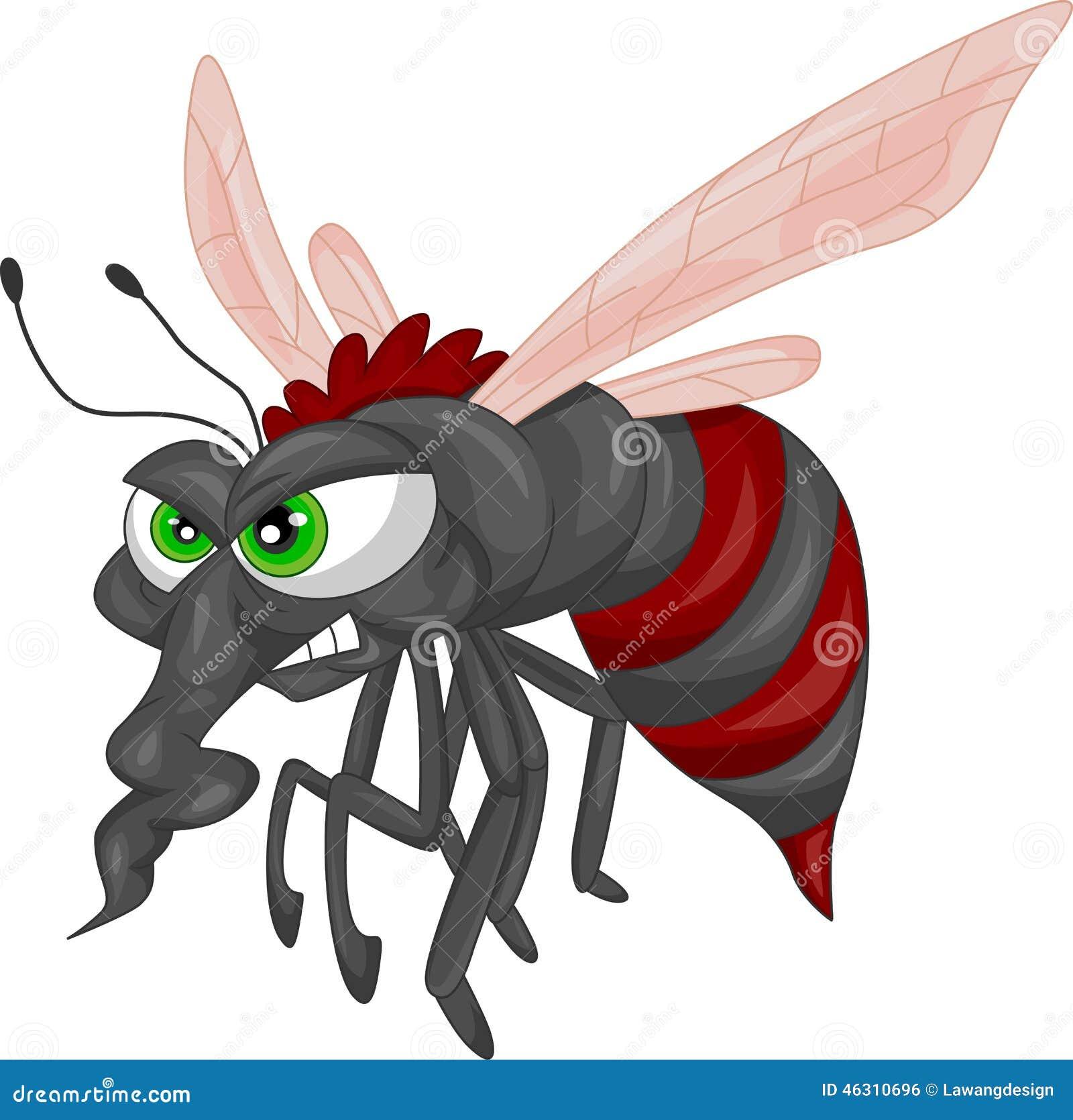 Bande dessinée f chée de moustique illustration vecteur