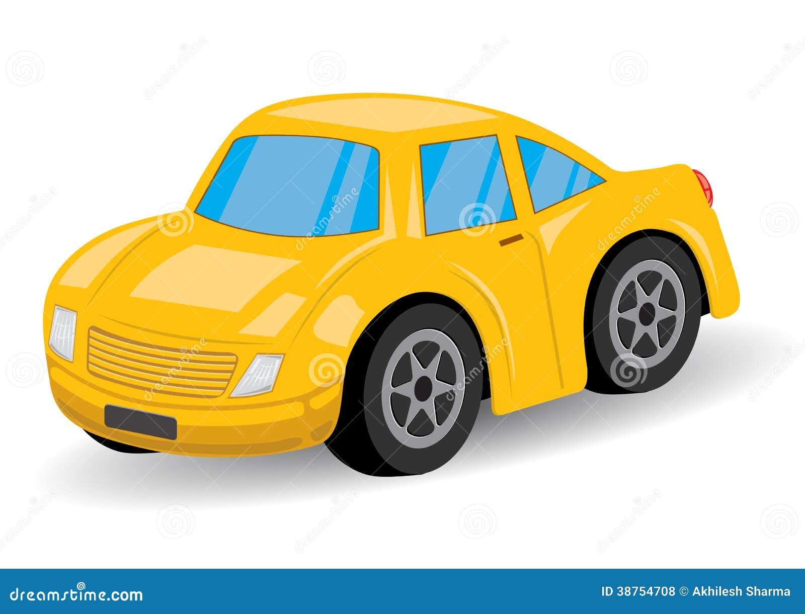 Bande dessinée jaune de voiture de sport - vecteur
