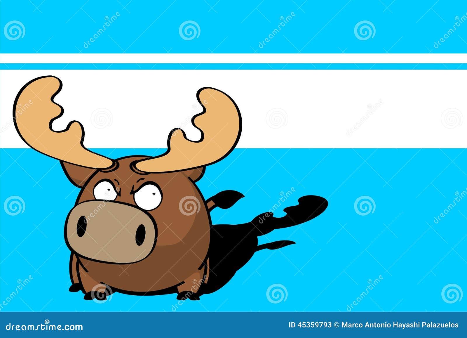 Bande dessinée mignonne background3 de boule de renne