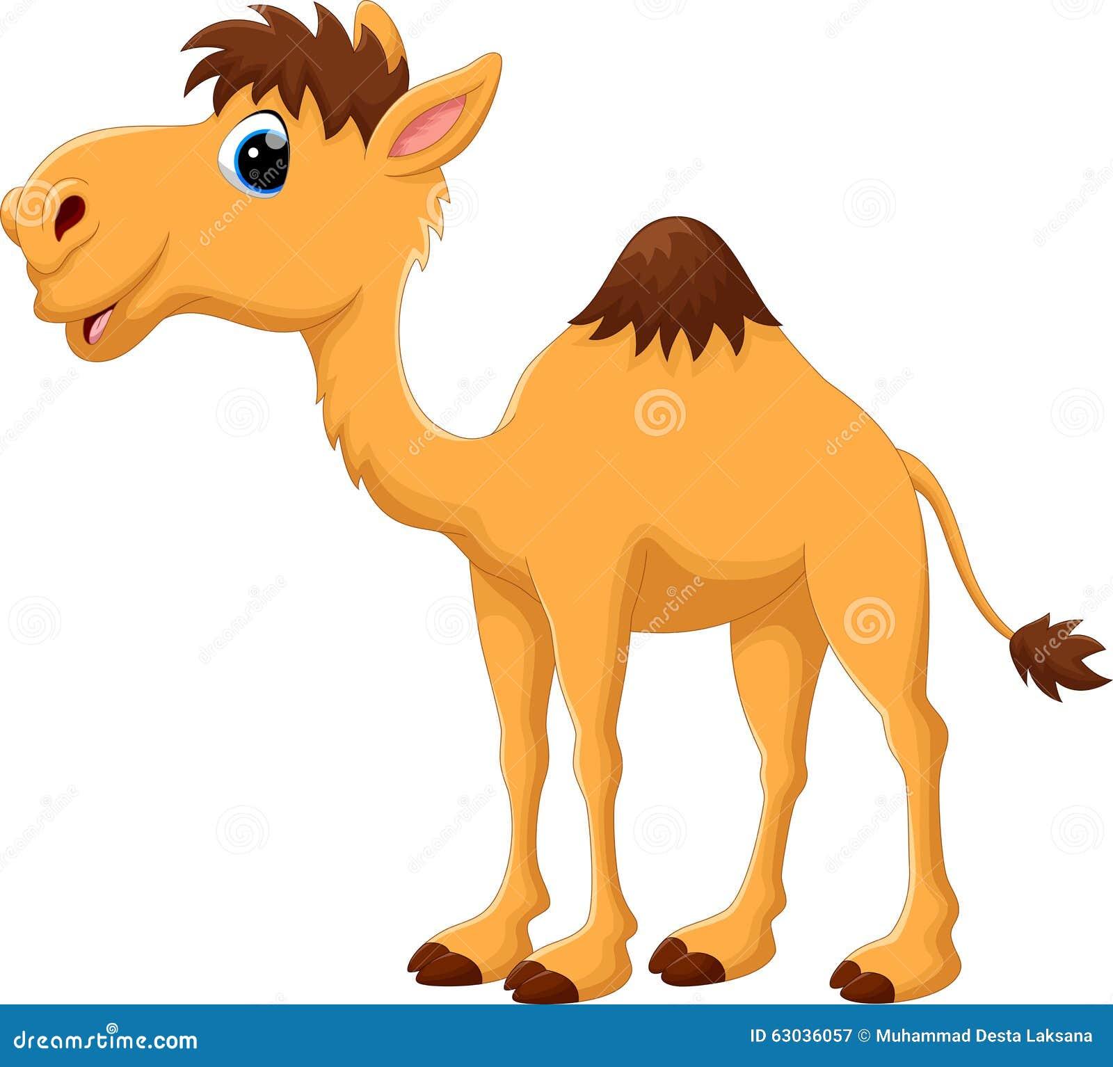Bande dessinée mignonne de chameau