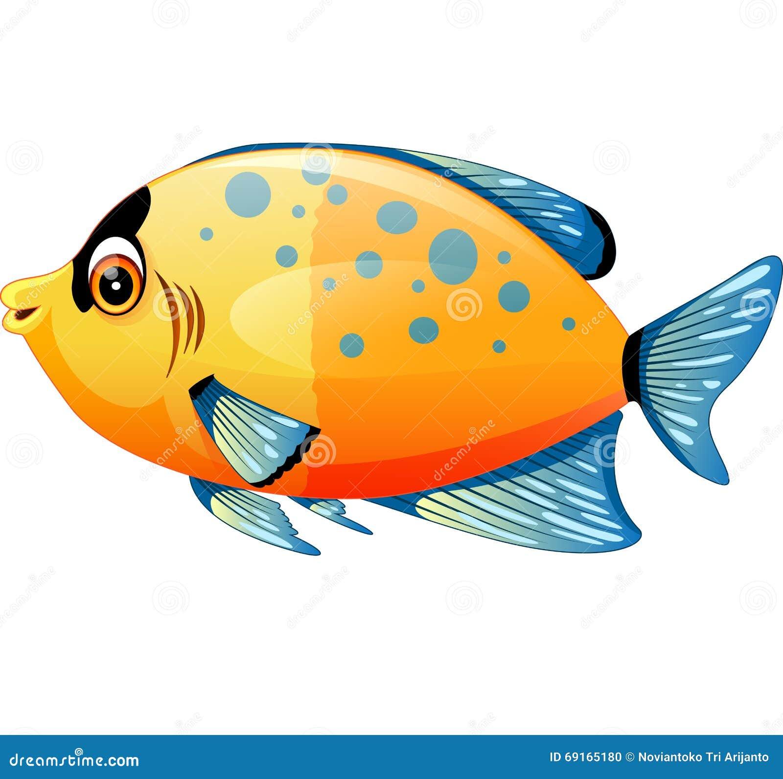 Bande dessinée mignonne de poissons