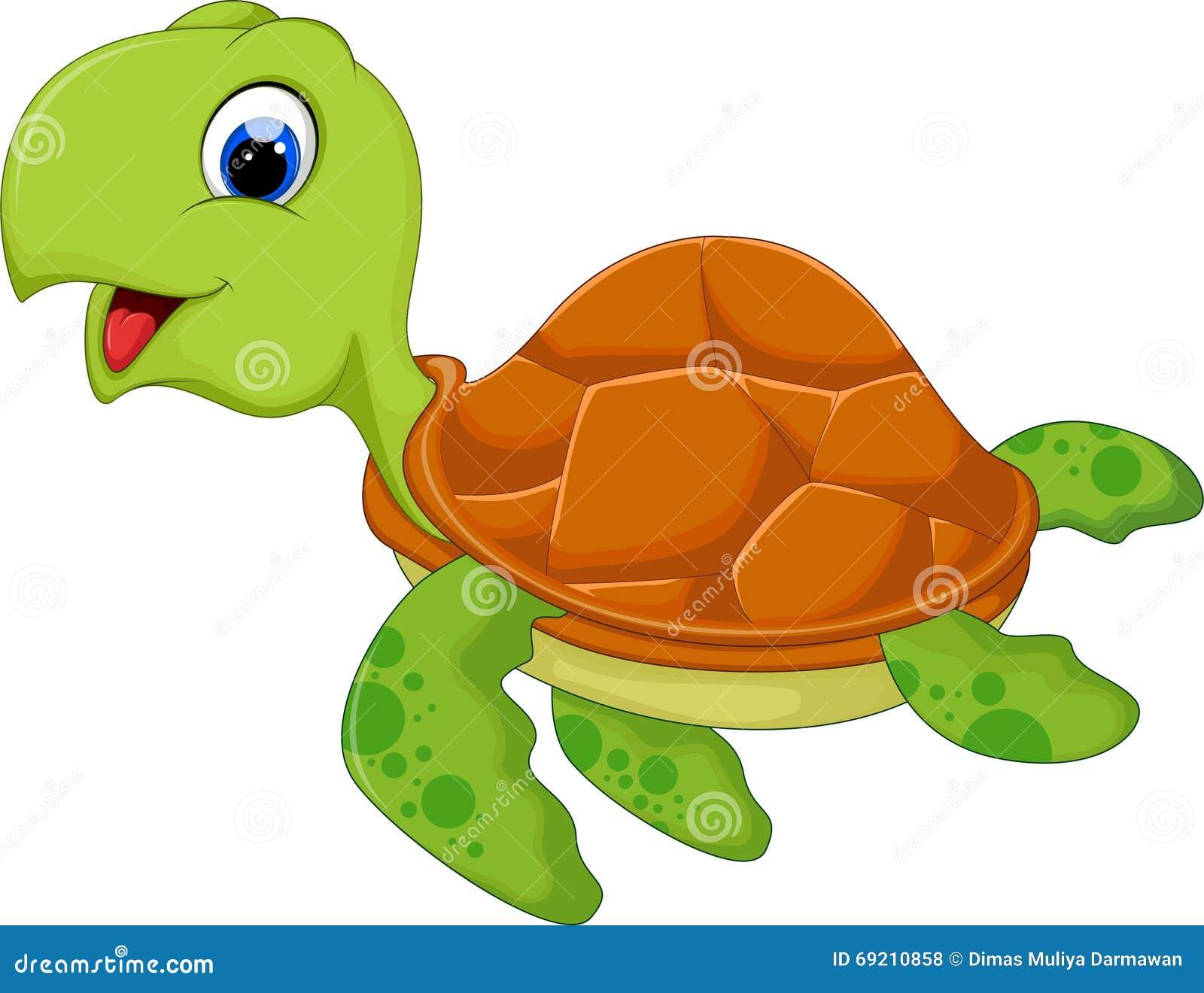 Bande dessinée mignonne de tortue de mer