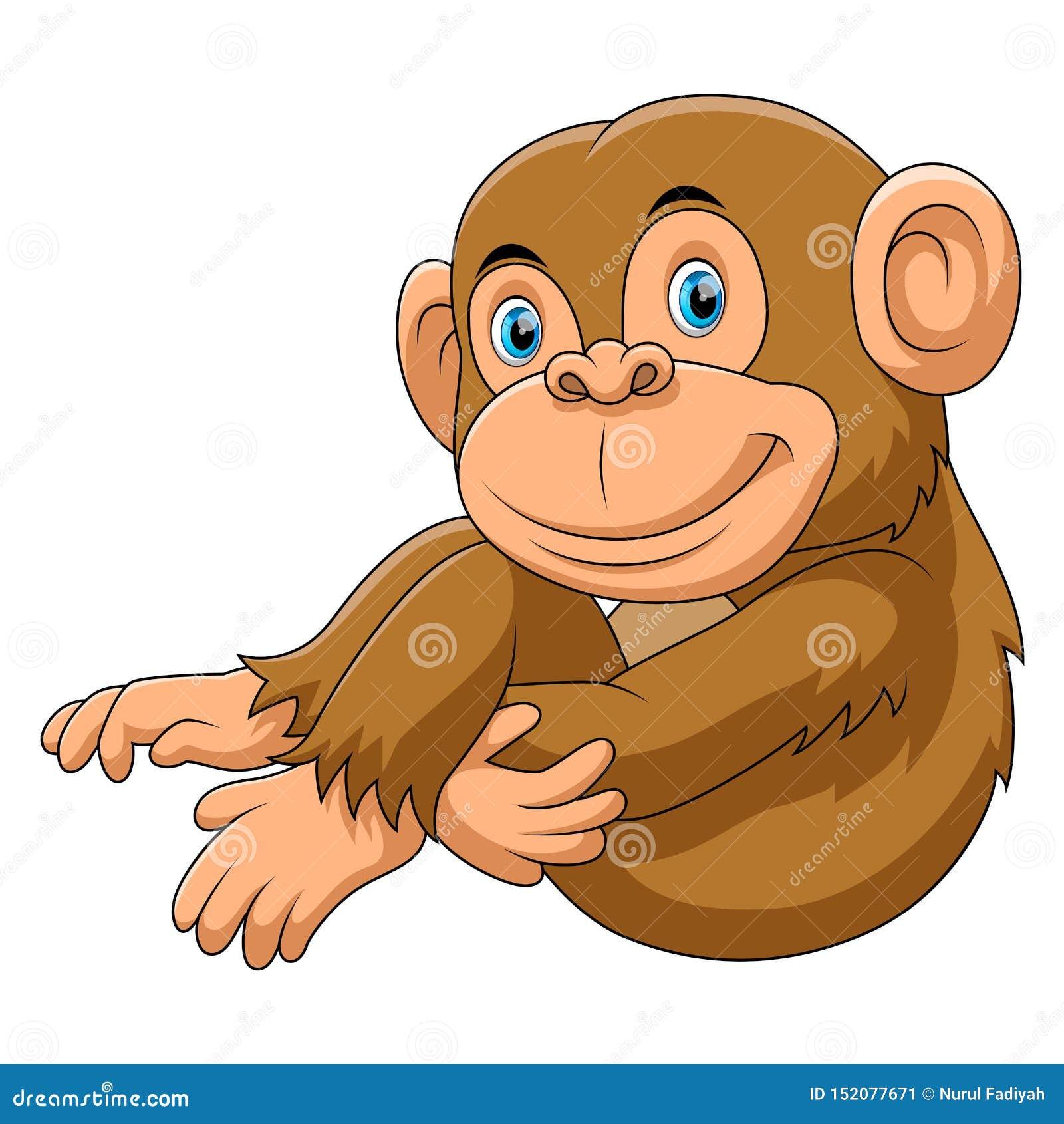 Bande dessinée se reposante de singe