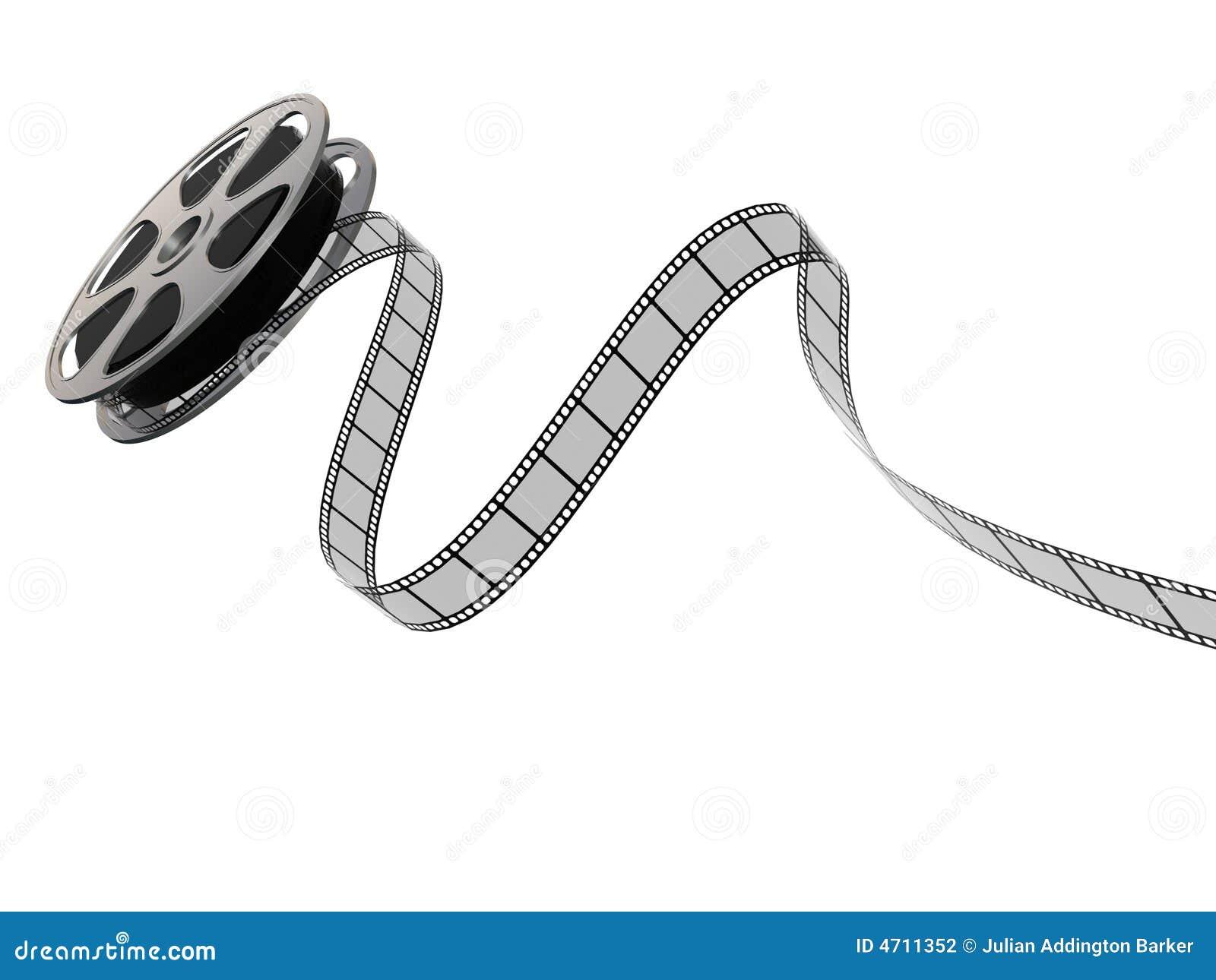 bande du film 3d sur une bobine photographie stock image. Black Bedroom Furniture Sets. Home Design Ideas