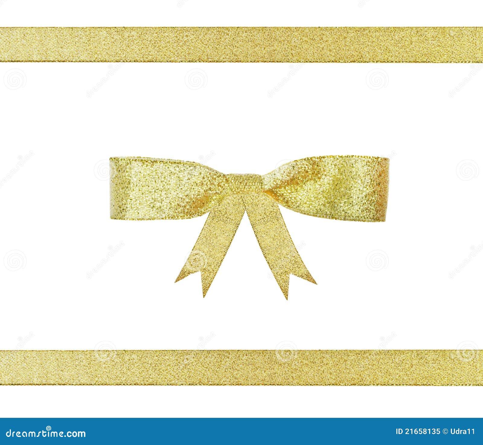 Bande et proue d or de Noël