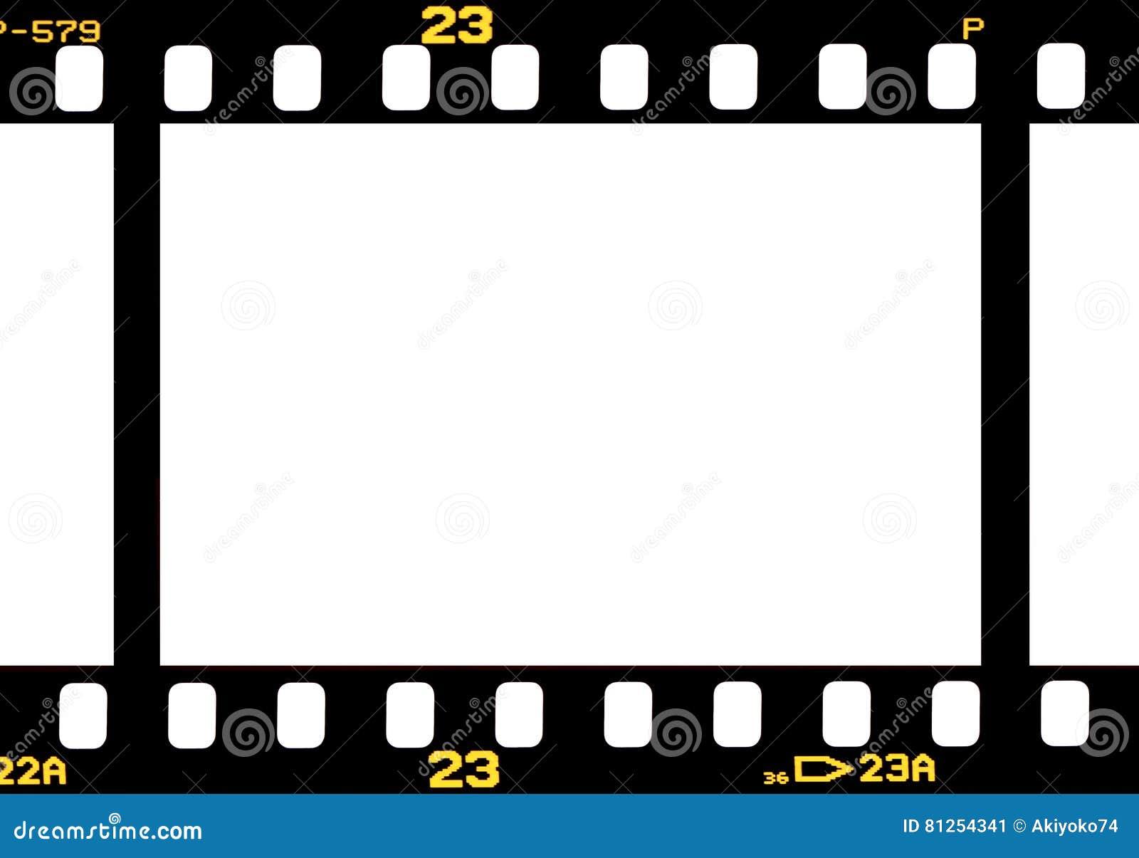 Bande photographique de film de 35 millimètres