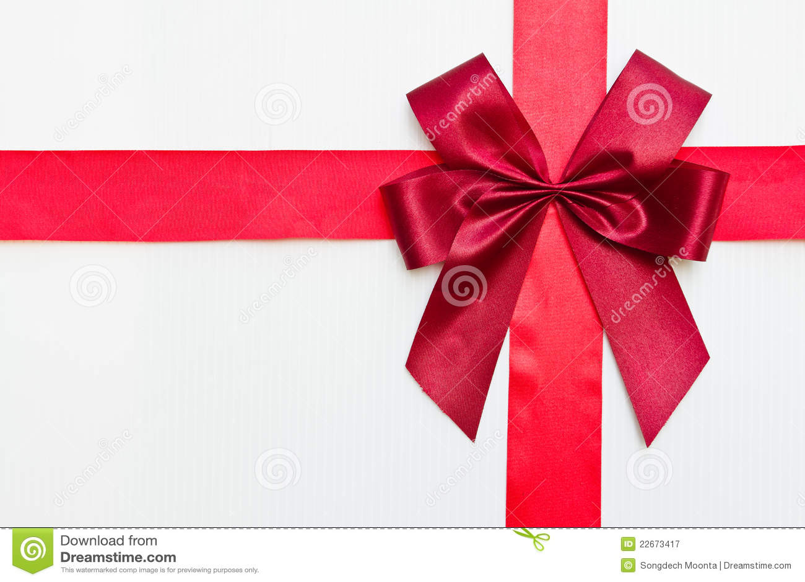 Bande rouge de cadeau