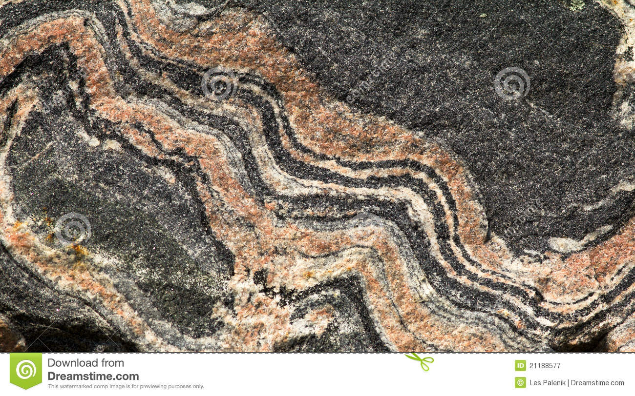 Banded gneiss rock - pattern / background