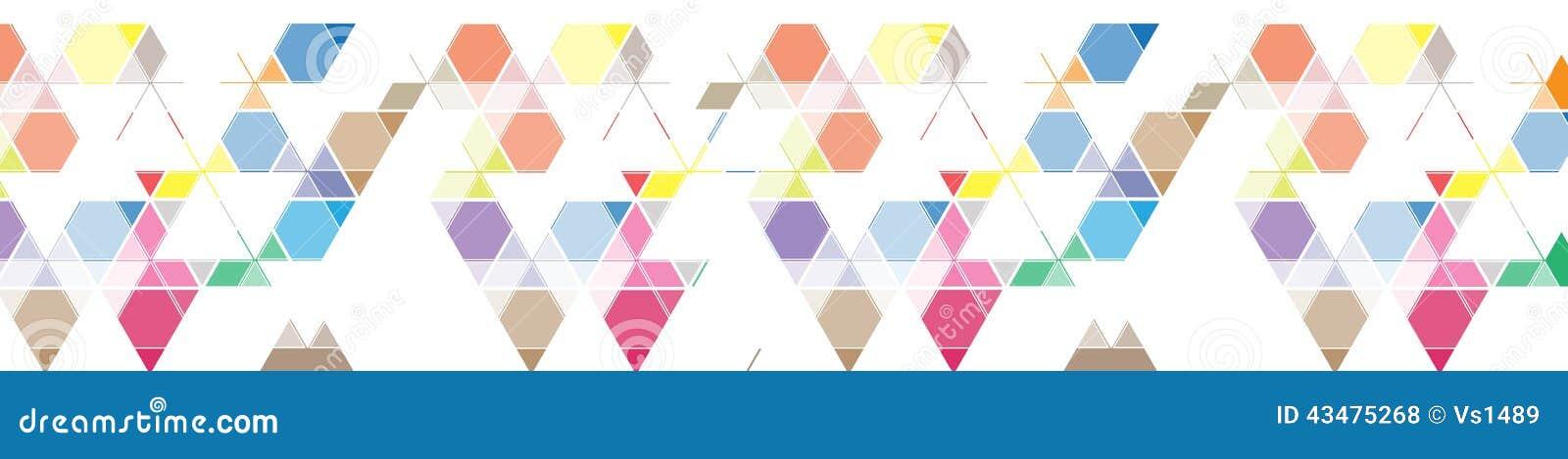 Bandeira abstrata do fundo do triângulo da malha da cor para o encabeçamento do local