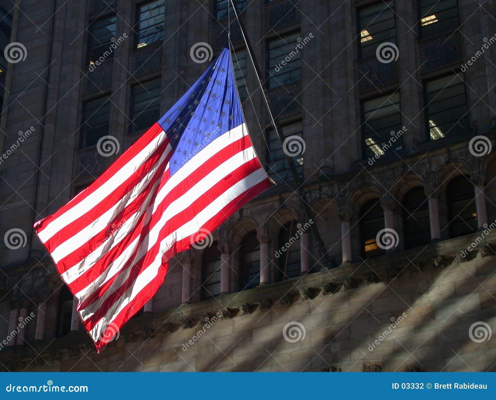 Bandeira americana em New York City